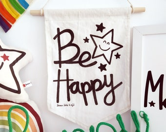 Decorative banner Be Happy ... Banner
