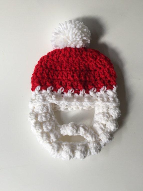 Ganchillo gorro barba barba Hat ganchillo accesorio de | Etsy