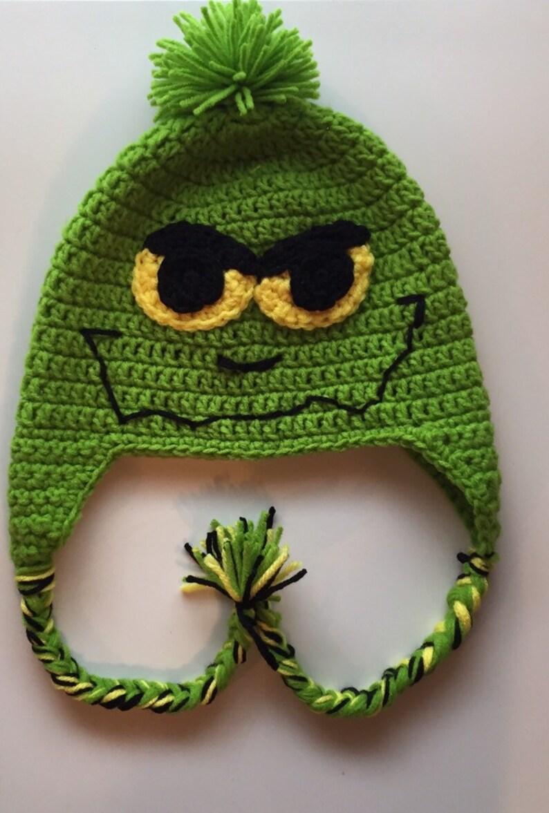 2d46841bdd3 Grinch Inspired Hat Crochet Hat Winter Hat Hat Crochet