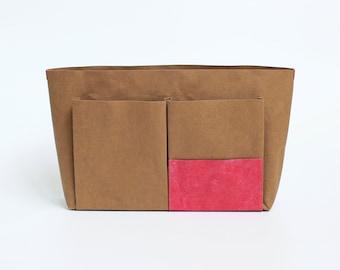 Minimalist Washable Paper Bag Organizer Insert, Lightweight Eco Bag/Purse Organizer Insert, Customized Washable Paper Purse Organizer Insert