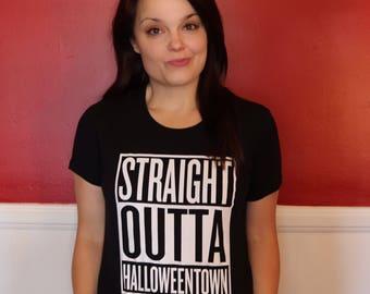 Straight Outta Halloweentown T-Shirt Graphic Tee