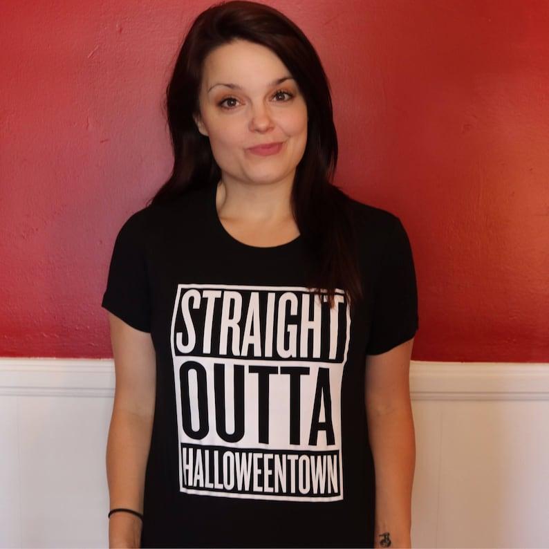 Straight Outta Halloweentown T-Shirt Graphic Tee image 1