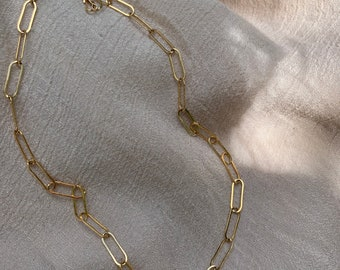 Paperclip Chain necklace • 14K Goldfilled Paperclip chain • Thick Gold Necklace • Heavy Chain necklace • Gold Layering Necklace • Gold