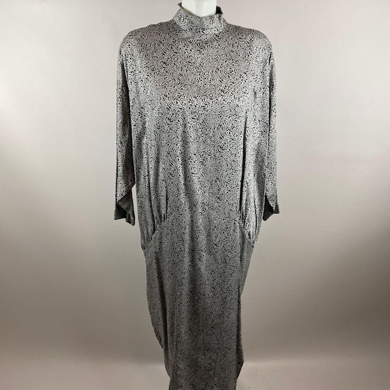 Vtg 80s 90s Nicole Miller Dolman Sleeve Dress Dram