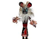 5 Inch Miniature Mouse Kachina Doll, Navajo Native American Tribe Handmade in the USA, Artist Signed, Southwestern Collectible Figurine