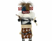 6 Inch Authentic Hillili Kachina Doll, Genuine Navajo Native American Tribe Handmade, Artist Signed, Southwestern Collectible Figurine