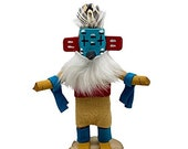 5 Inch Miniature Hummingbird Kachina Doll, Navajo Native American Tribe Handmade, Artist Signed, Southwestern Collectible Figurine