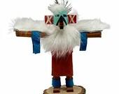 4 Inch Miniature Eagle Dancer Kachina Doll, Genuine Navajo Native American Tribe Handmade, Artist Signed, Southwestern Collectible Figurine