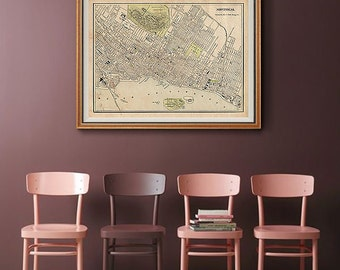 Montreal map | Etsy