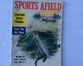 Vintage Magazine Sports Afield April 1960, Hunting Fishing Sports & Outdoors