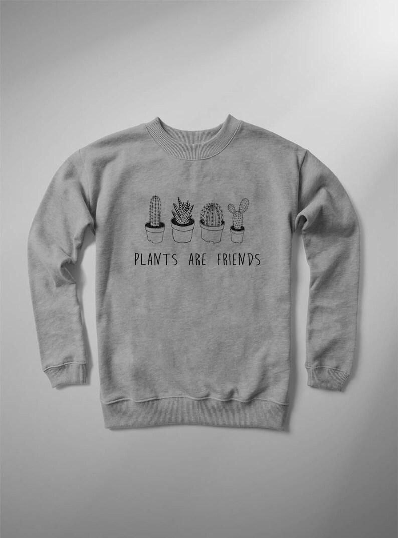816c2d0c4ed4 Cactus womens funny sweatshirt plants are friends women crew   Etsy