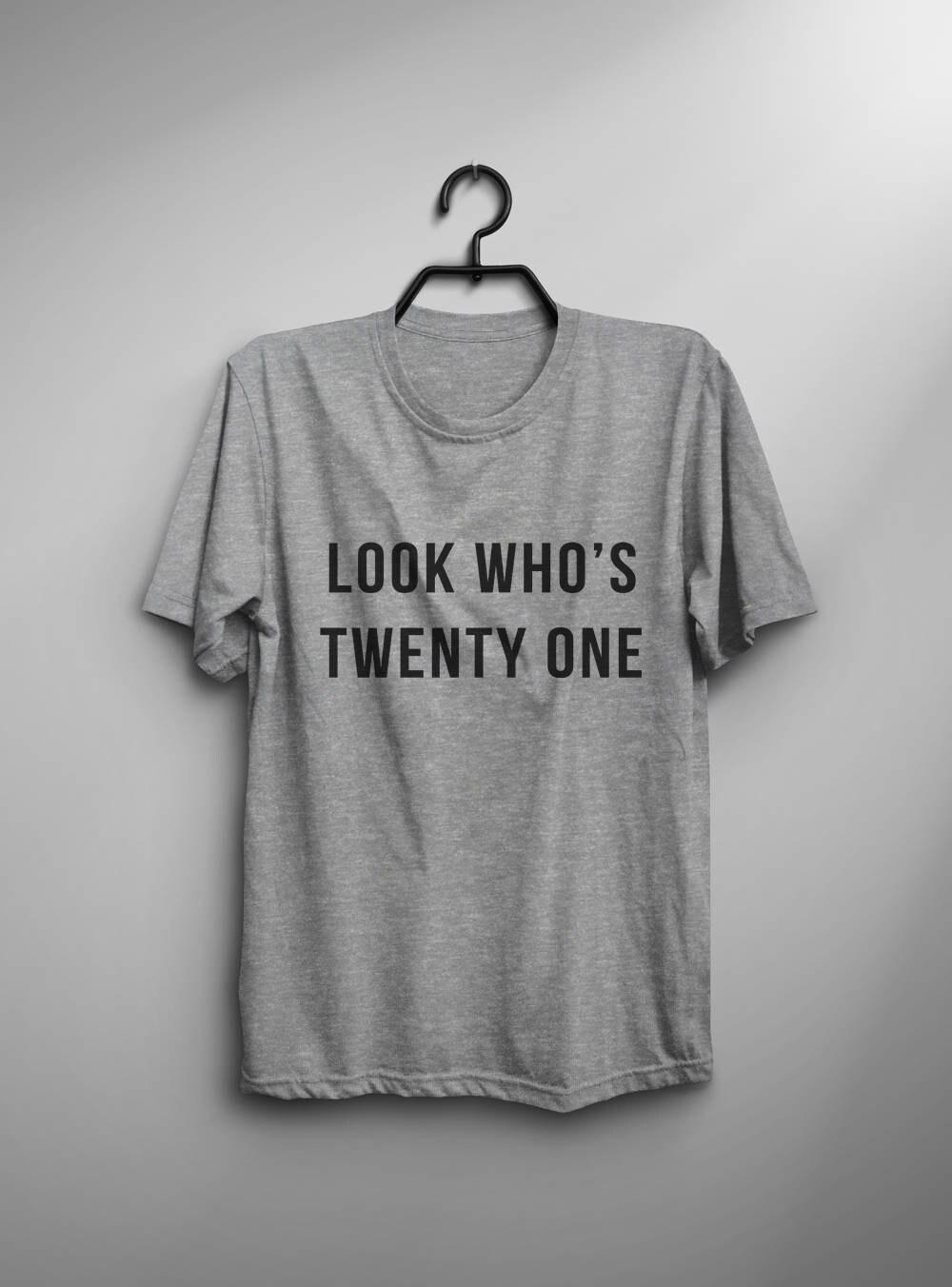21st Birthday Shirt T Twenty First Gift Womens