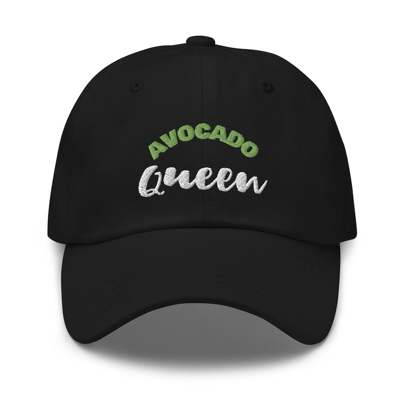 Avocado queen baseball caps for women/'s embroidered hats women funny hat vegan gift for her