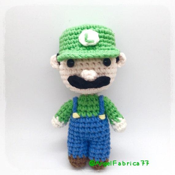 Crochet Luigi Super Mario Character Mini Luigi Smash Mario | Etsy