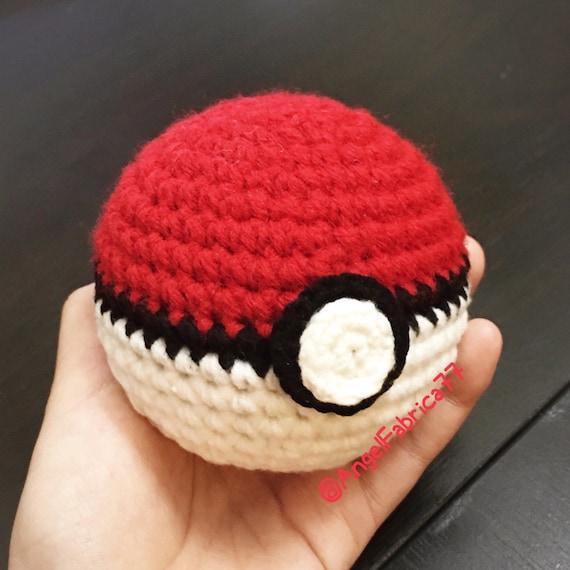 Häkeln Sie Garn Pokeball Amigurumi Poke Ball Pokemon Gehen Etsy