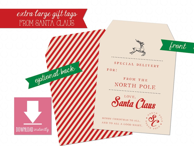 photo regarding Large Gift Tags Printable titled Printable Additional Weighty Present Tag versus Santa - Prompt Obtain, Santa Shipping Tag, Xmas Present Tag, Santa Claus Present Tag