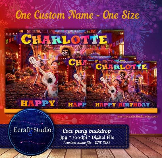 Coco Backdrop Coco Banner Printable Coco Disney Party Coco Movie Birthday Digital Download Coco Movie Banner Digital Download By Ecraftsstudio Catch My Party