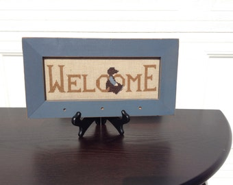 Cross Stitch Picture ~ Welcome~ Virginia Vintage