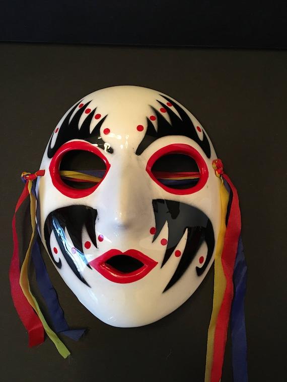 Davar Originals Mask ~ Red White Black ~ Mardi Gra