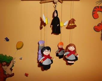 Harry Potter Nursery Baby Crib Mobile, Severus Snape in the middle felt Crib Mobile, Harry PotterKids Nursery Decoration