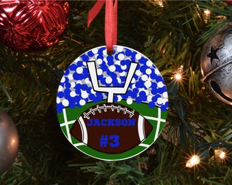 sport christmas ornament, football ornament, customize ornament personalized ornament, Free Shipping
