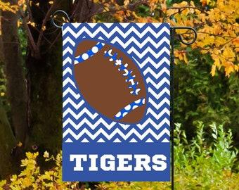 Personalized Football Garden Flag, Football Flag, Yard Flag, Welcome Flag, Garden Decor, Yard Decor, Teams Colors available, football season