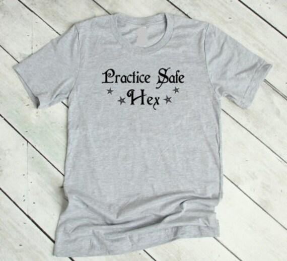 Practice Safe Hex Funny Halloween Sweatshirt Unisex