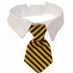 Gold / Black Striped Cat Necktie Tie & Collar | Small Pet Formal Accessory | Formal Kitty Cat Tie