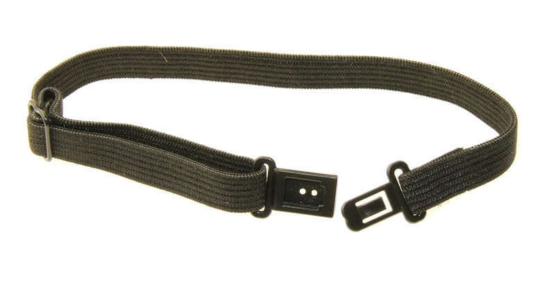 5 Black Elastic Neck Straps  Buckle Closure  DIY image 0