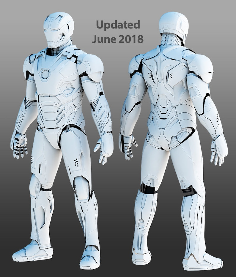 Mark 45 wearable suit for 3D-printing DIY