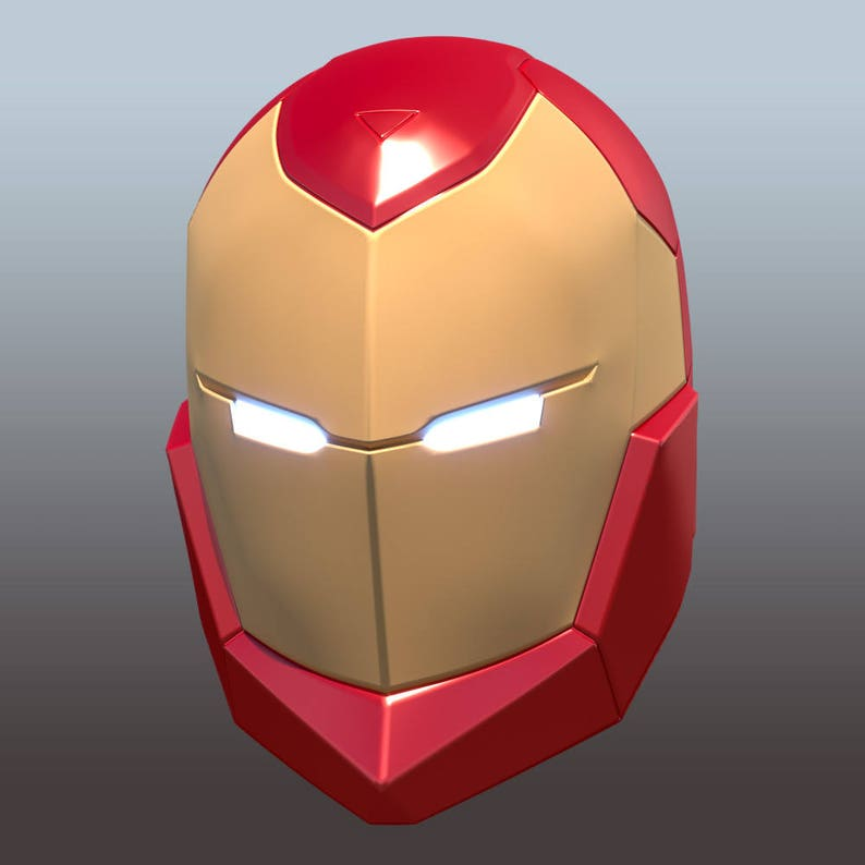picture regarding Iron Man Mask Printable identify Invincible Iron Male helmet style for 3D-printing Do it yourself