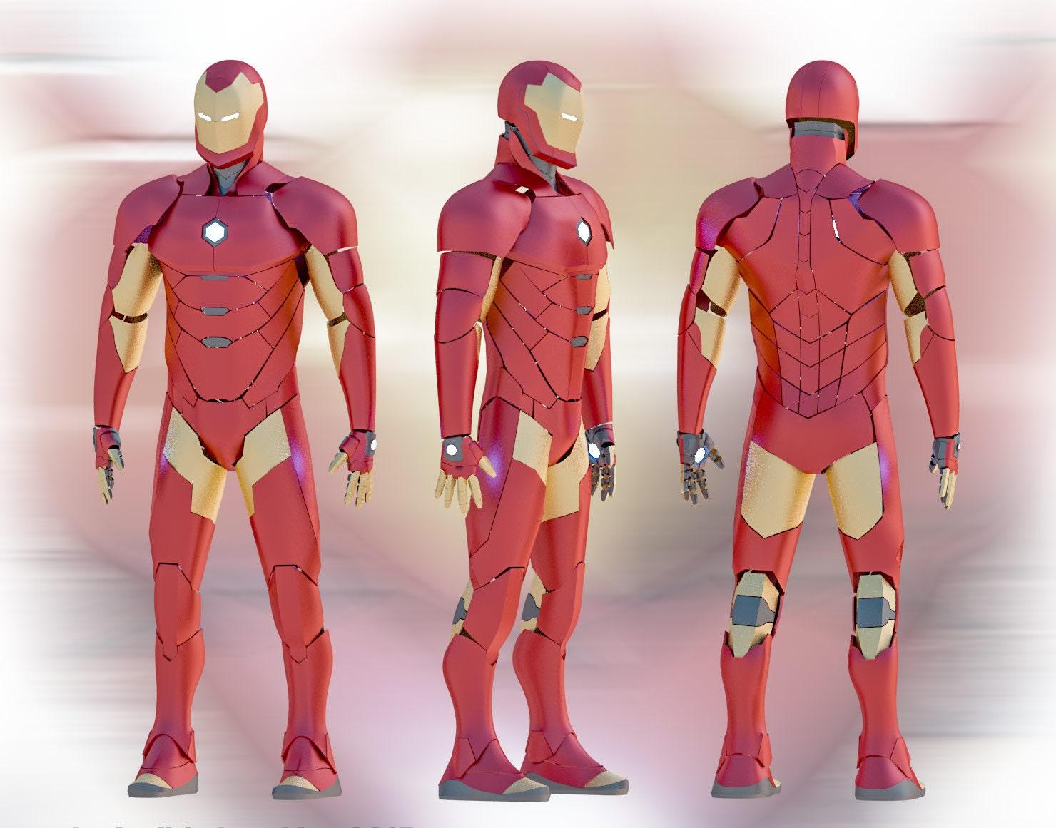 Invincible Iron Man 2015 Suit Pepakura Diy Etsy