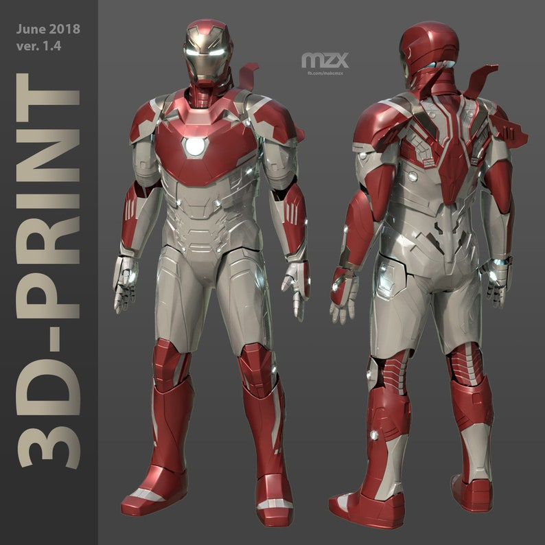 1bdb5c3dd64e Mark 46/47 for 3D-printing DIY ver. 1.4, Wearable suit