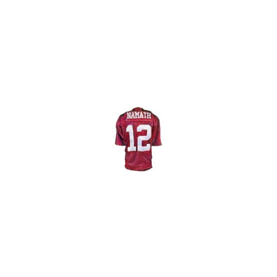 premium selection cbccd 1f152 Print of miniature watercolor painting of Alabama jersey. giclee print of  Alabama joe Namath watercolor painting