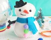 Snowman DIY Decoration, Craft kit, decoration craft kit, christmas crafts, diy kit, felt kit, stocking filler, stocking stuffer, gifts