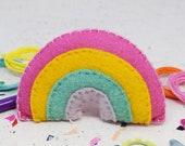 Pastel Rainbow Felt Sewing Craft Kit