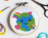 Love the Planet Mini Cross Stitch Craft Kit