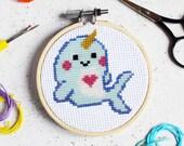 Magical Narwhal Mini Cross Stitch Craft Kit