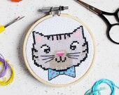 Cool Kitten Mini Cross Stitch Craft Kit