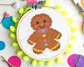 cross stitch kits, secret santa, stocking fillers, modern cross stitch, patterns, the make arcade, funny crafts, gifts , gingerbread ,