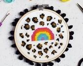 Leopard Rainbow Cross Stitch Craft Kit