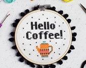 Hello Coffee Cross Stitch Craft Kit
