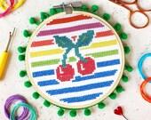 Cherry Stripe Cross Stitch Craft Kit