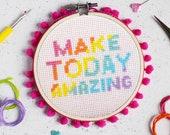 Make Today Amazing Cross Stitch Craft Kit