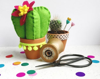 Craft kit, DIY craft kit, felt cactus, beginners kit, craft activities, home decor, craft gifts, party favours, sewing pattern, botanical