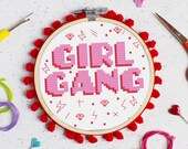 Girl Gang Cross Stitch Craft Kit