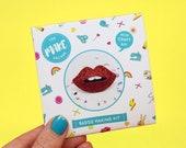 Lips Badge Making Craft Kit