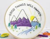 Good Things Will Happen DIY Embroidery Craft Kit