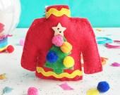Christmas Jumper sewing kit, sewing kit, craft kit, kitschmas, ugly jumper, DIY ornament kit, kids craft kit, sewing kit, stocking filler