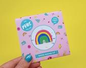 Rainbow Badge Making Craft Kit